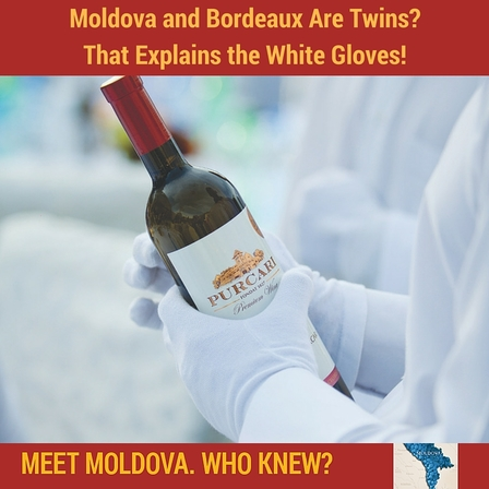 Moldova is on the same parallel as Bordeaux, France.